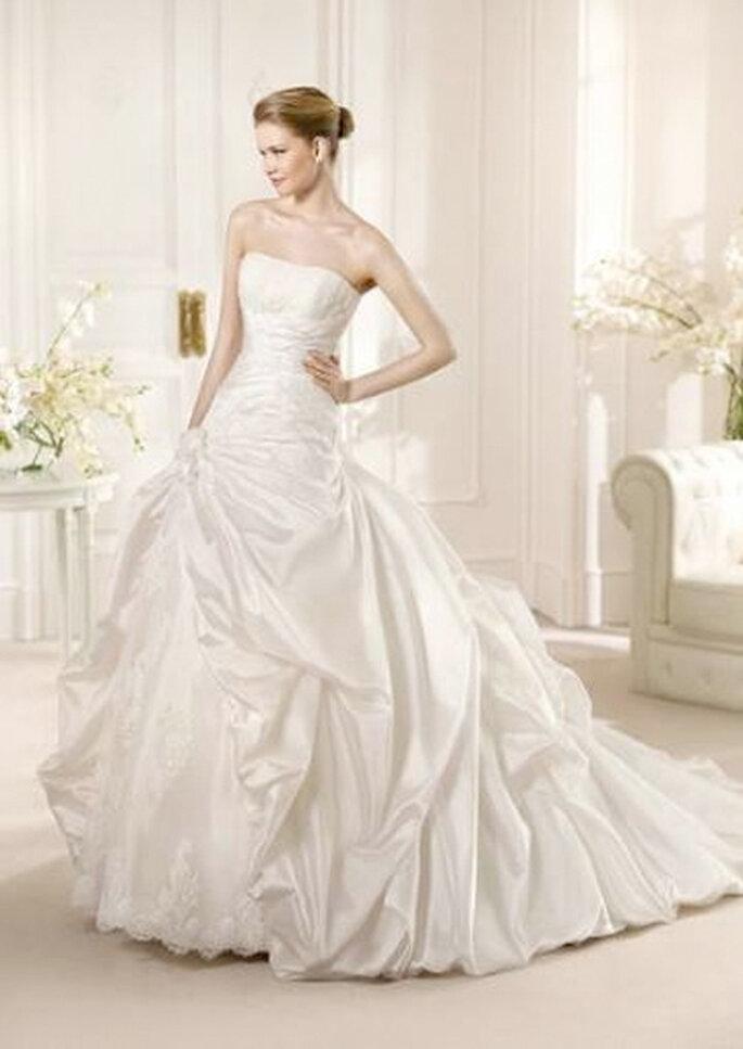 Vestido de novia con falda princesa, de San Patrick. Foto: San Patrick