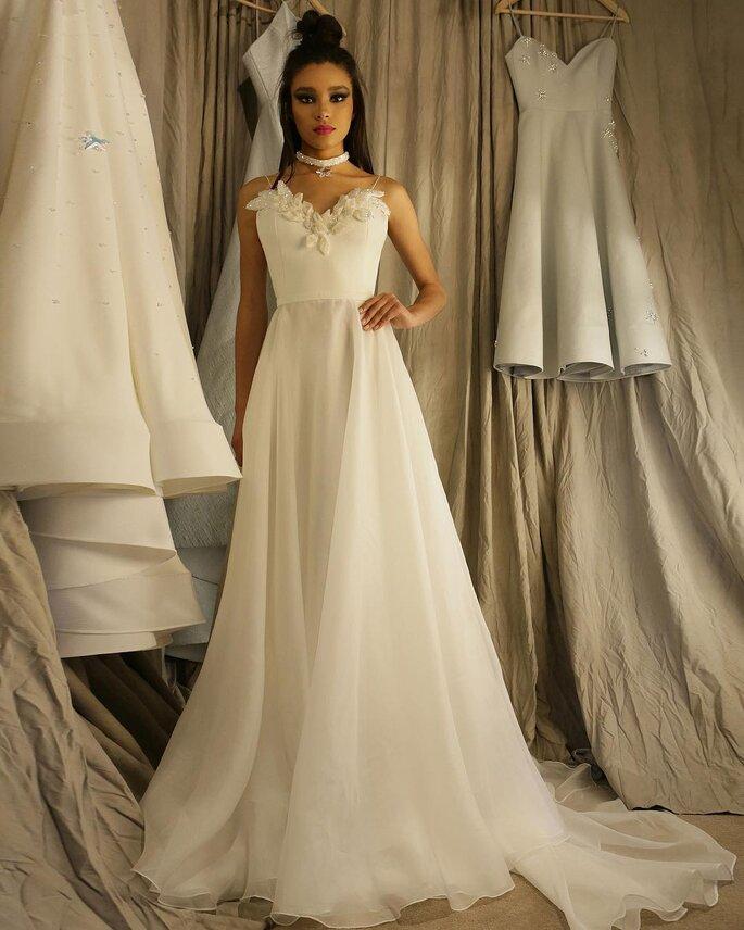 Vestido de noiva de organza
