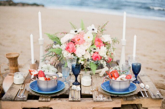 montaje para una  boda en la playa - Ruth Eileen
