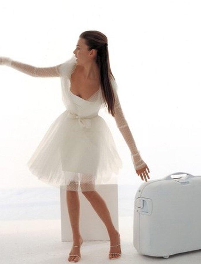 ... fino all'abito corto, adatto per una sposa giovanile - Le Spose di Gió