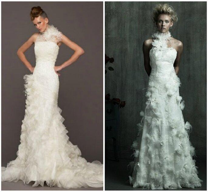Féerie et magie des plumes sur ces robes de mariée - Photo: Allure Bridals