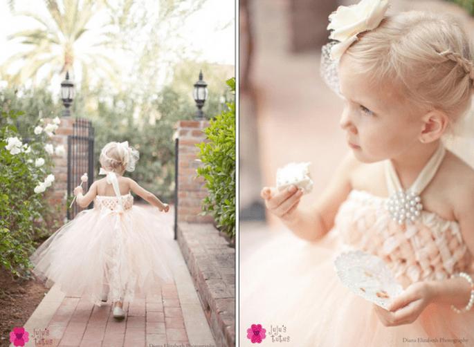 Vestidos con estilo y encanto para pajes de boda - Foto Jujus Tutus en Etsy