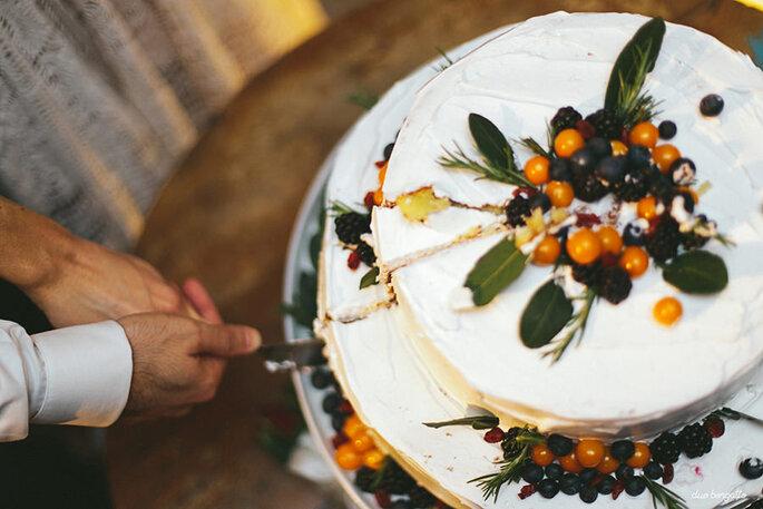 bolo de casamento rústico chic