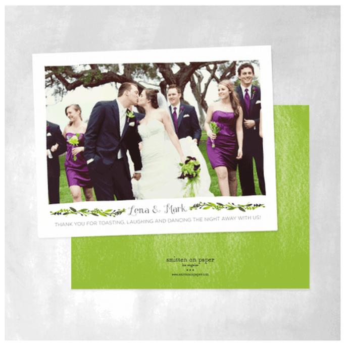 Tarjetas de agradecimiento con colores vivos y fotos románticas - Foto Smitten on Paper