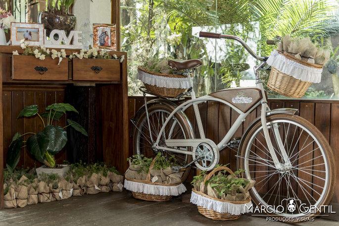 Bicicleta vintage na decoração