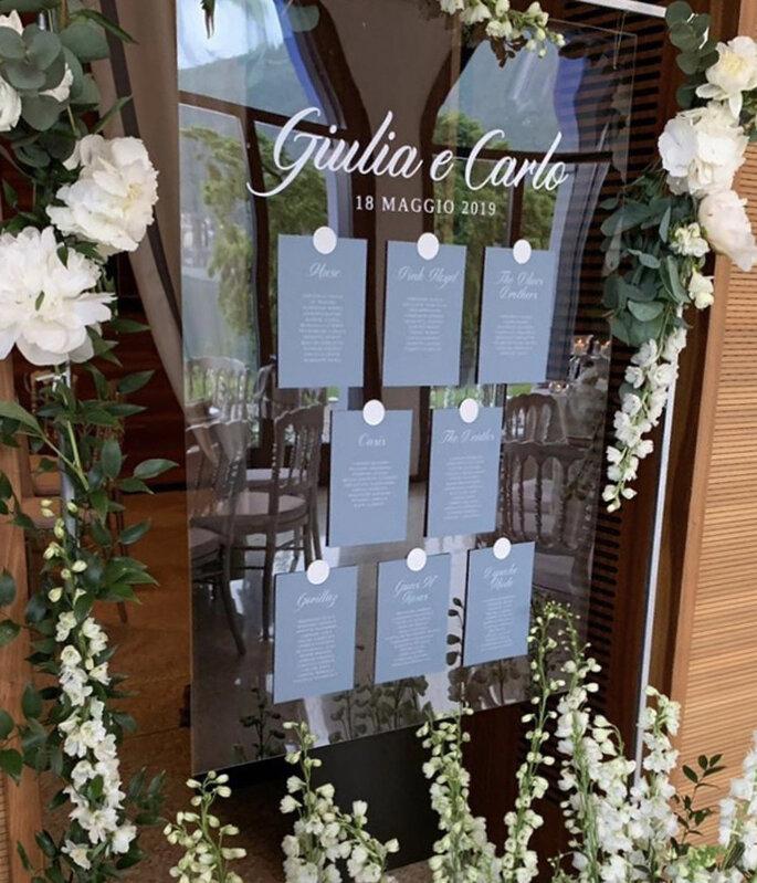 Tableau Mariage con IuMi Wedding Boutique