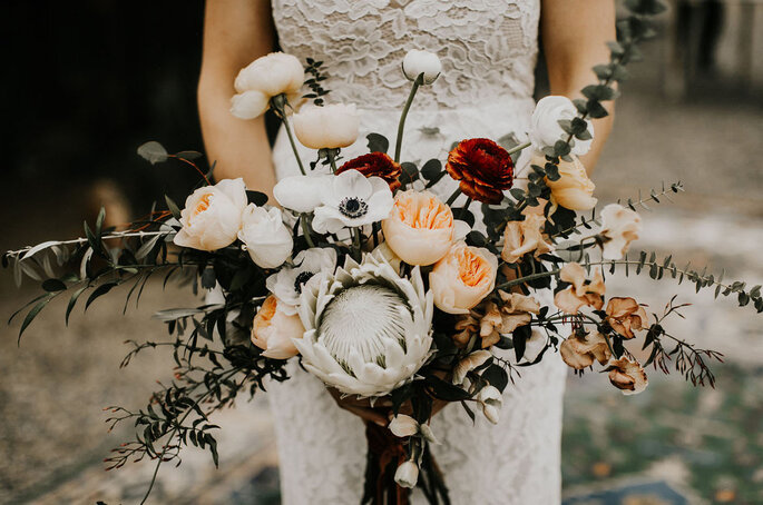 Ramo de novia con flores silvestres