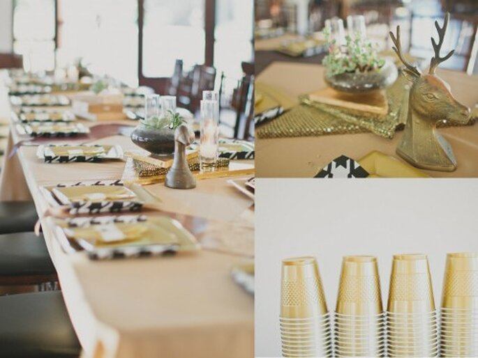 Tendances décoration de mariage 2013. Par Jesi Haack Fotografía Aaron Young en Ruffled
