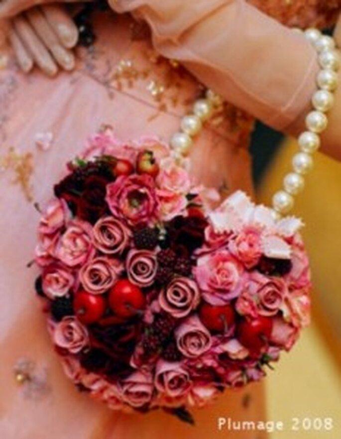 Bouquet de mariée sac coeur