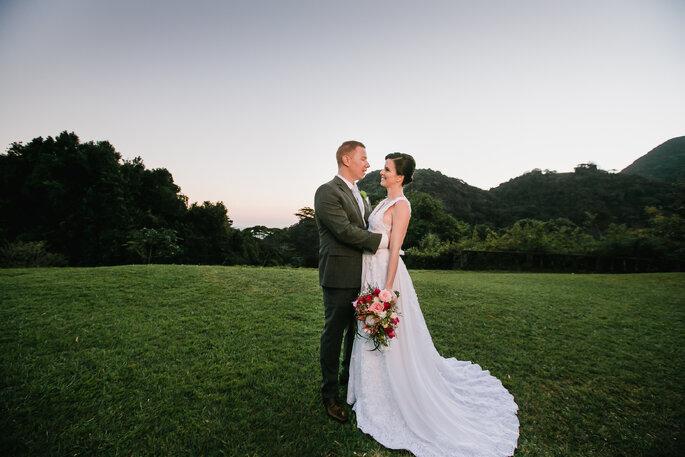 Making off noivos ao ar livre