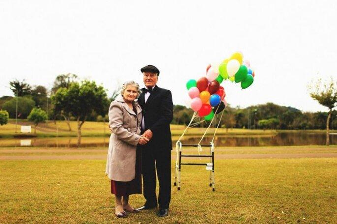 ensaio filme up casal velhinhos