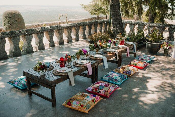 mesa decorada boda
