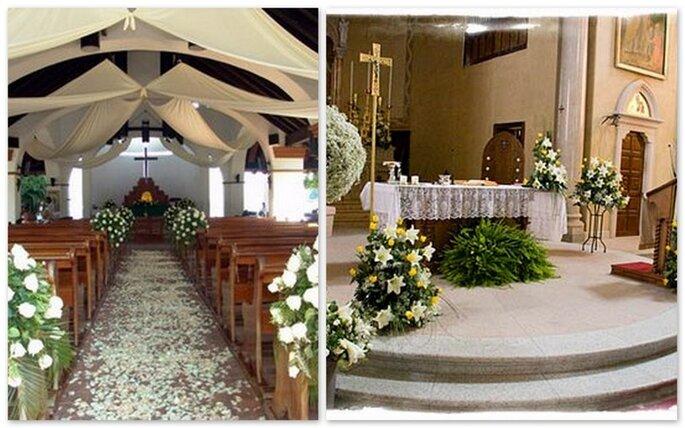 decorazione dell'altare e decorazione di una Chiesa all'aria aperta