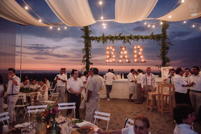 Bar casamento na praia