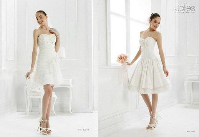 Deux robes courtes de la collection Jolies Nicole - Photo www.nicolespose.it