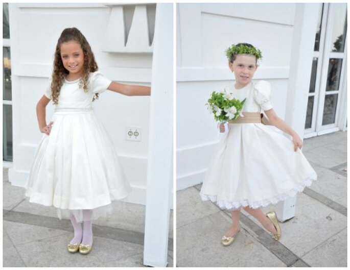 Modelos clássicos  de vestidos de daminhas da Mairoca. Foto: Mairoca