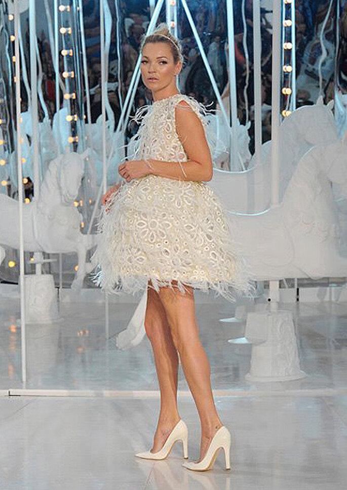 Kate Moss lors du défilé printemps-été 2011 de Louis Vuitton. Photo: Louis Vuitton / Ludwig Bonnet