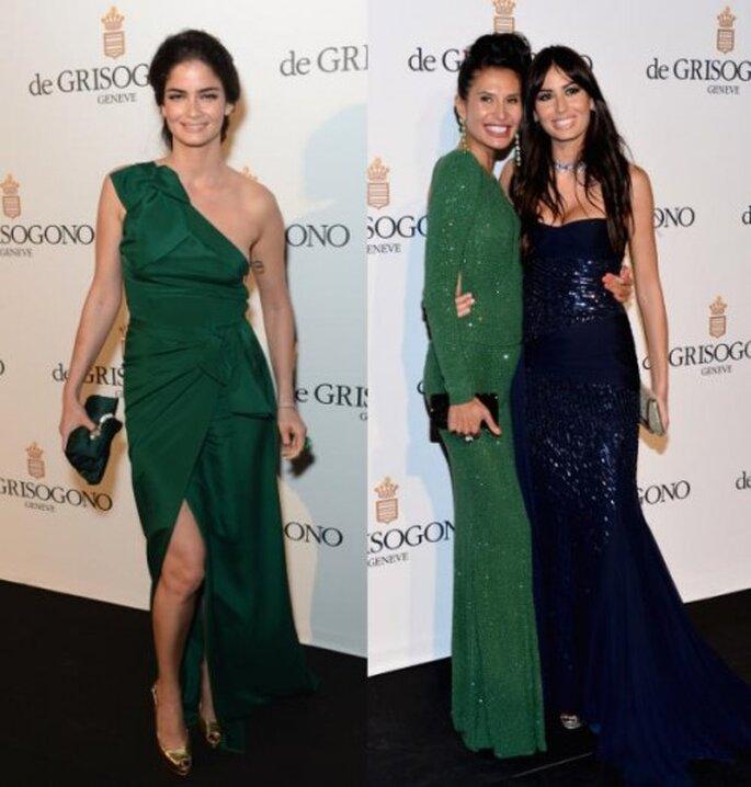 Shermine Shahrivar, Goga Ashkenazi y Elisabetta Gregoriaci, Festival de Cannes 2012. Foto de Image.net.