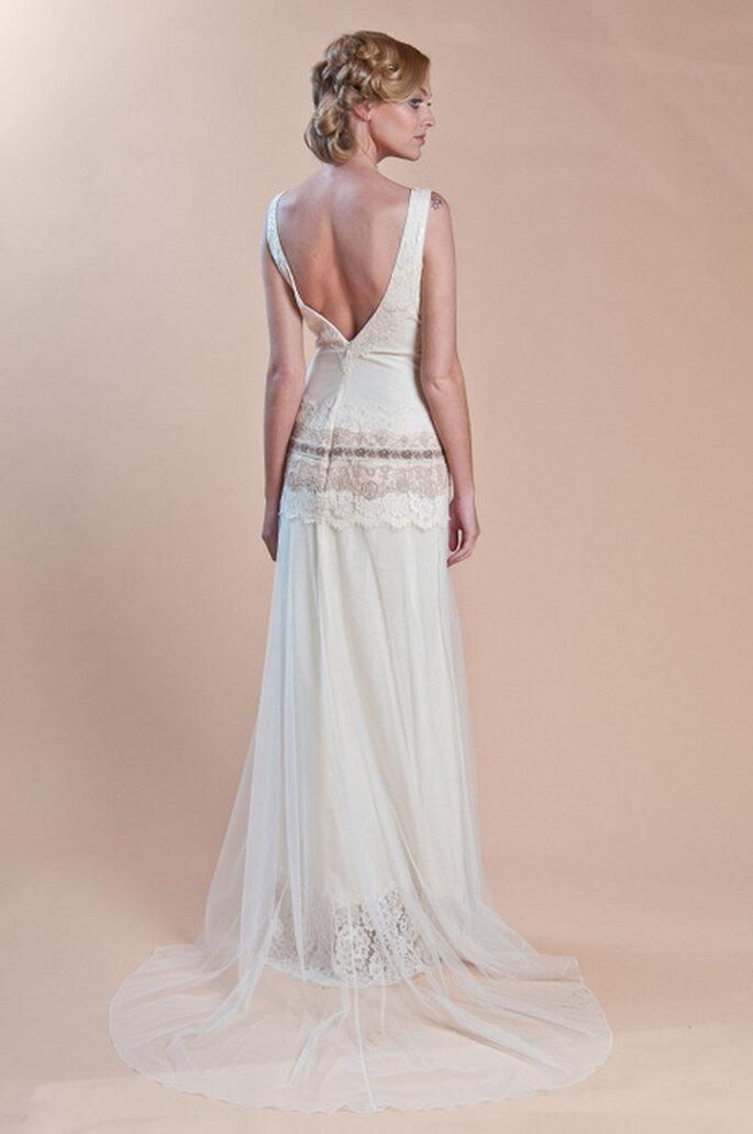 Robe de mariée Haviland. Vue de dos. Photo: www.clairepettibone.com