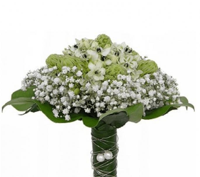 Bouquet a scettro con perle