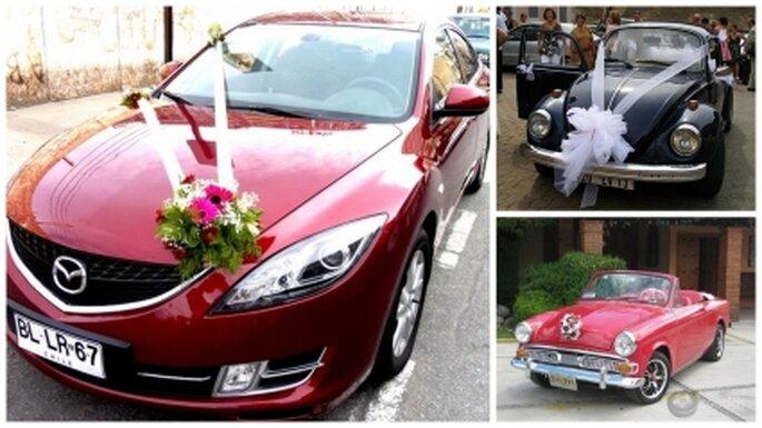 Ideas para la decoración del auto de boda