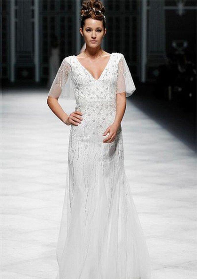 Brautkleid für Liebhaberinnen von La Sposa  - auch hier dominiert der herzförmige Ausschnitt
