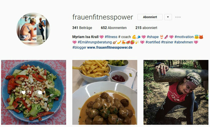 Foto: frauenfitnesspower/Instagram