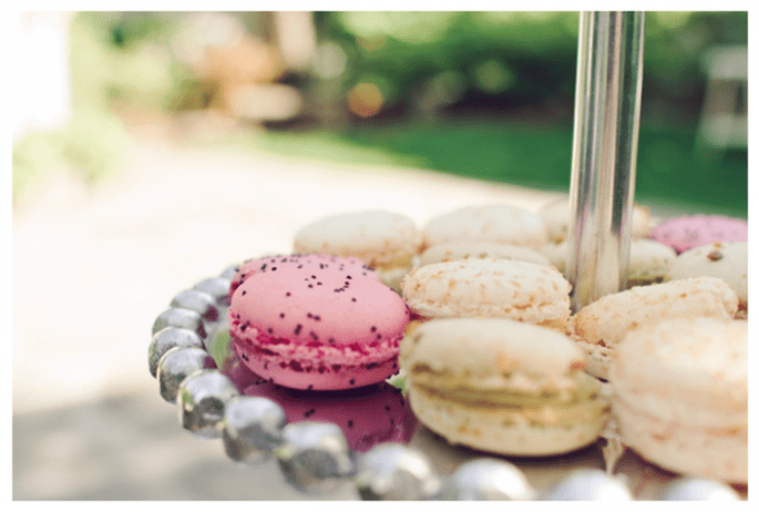 Macarons como postre para tu banquete de bodas - Foto Amy Nicole Photography