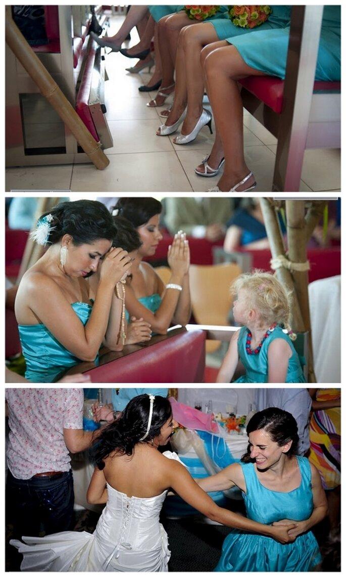 Las damas de honor de una boda mexicana. Enrique Arellanos