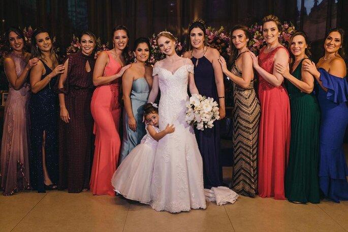 Noiva e madrinhas