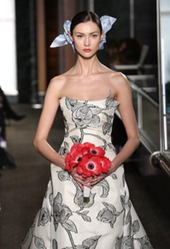Vestido de noiva estampado - Carolina Herrera