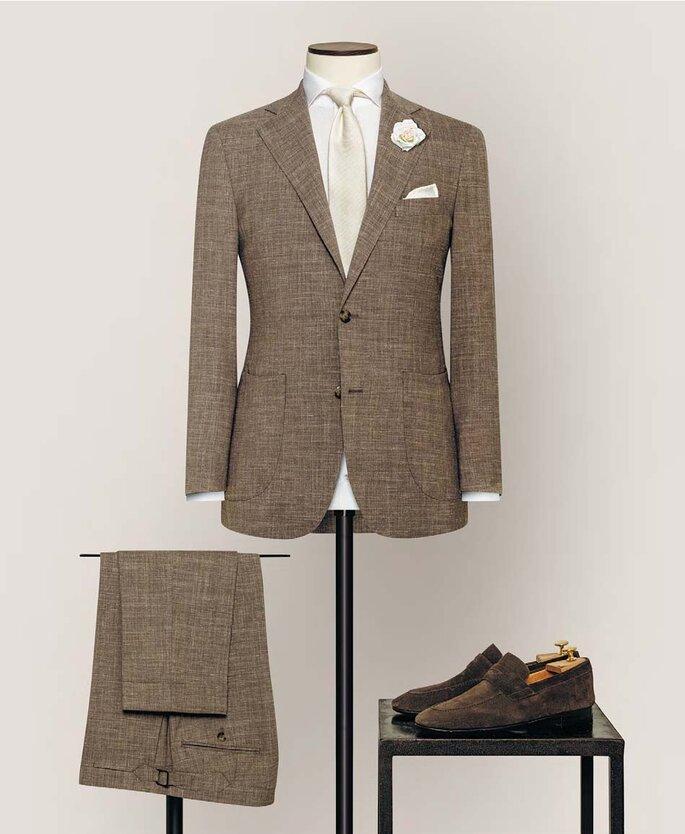 Anzug von Alferano braun
