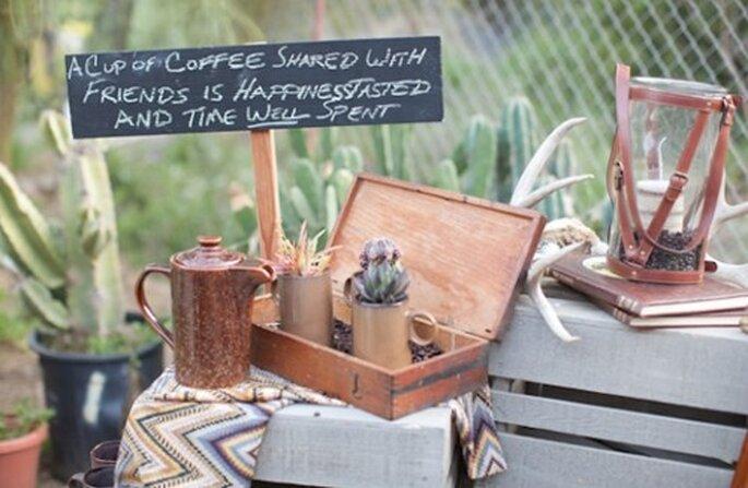 Mesa de café para tu boda - Foto AE Martin