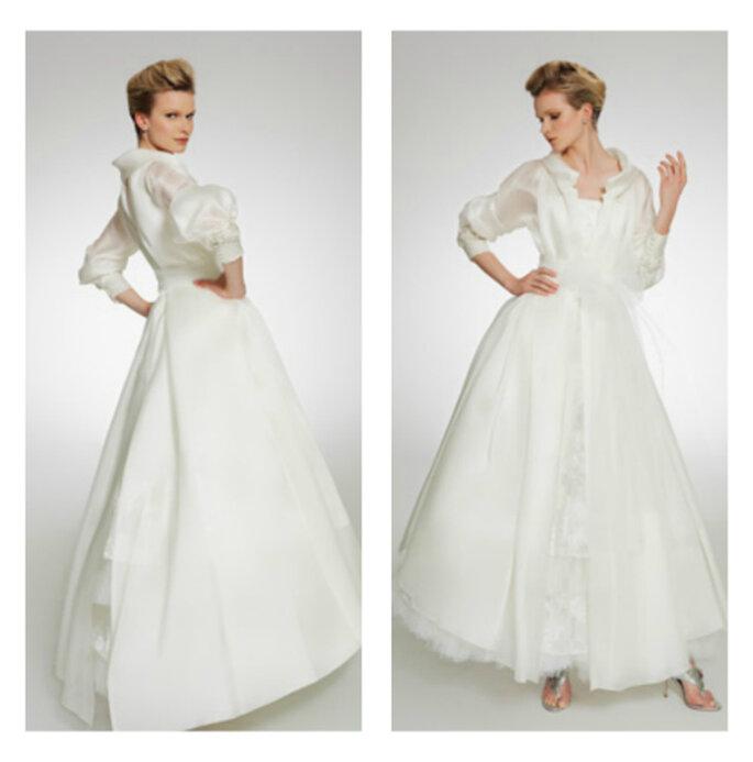 Irresistible diseño de camisa y falda con vuelo. Foto: Patricia Avedaño