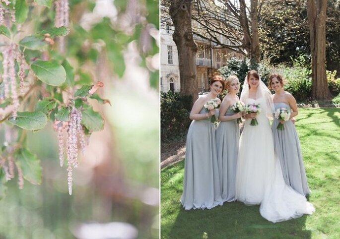 El azul polveado en la decoración de tu boda - Foto Taylor Barnes Photography