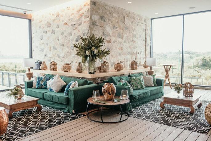 decoração lounge de casamento