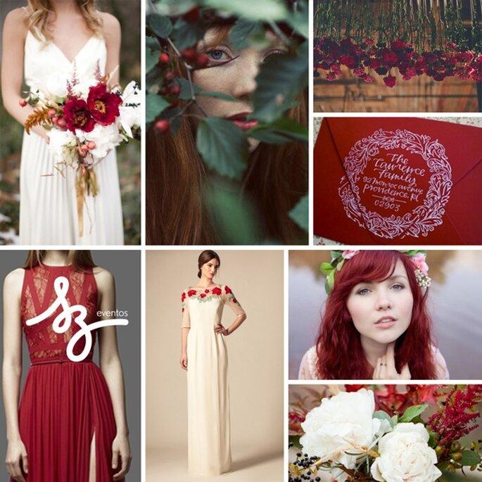 Inspiración en Deep Red para la decoración de tu boda - Fotos Jessica Peterson, Lani Elias Fine Art Photography, Elie Saab, Levisto Love Photography