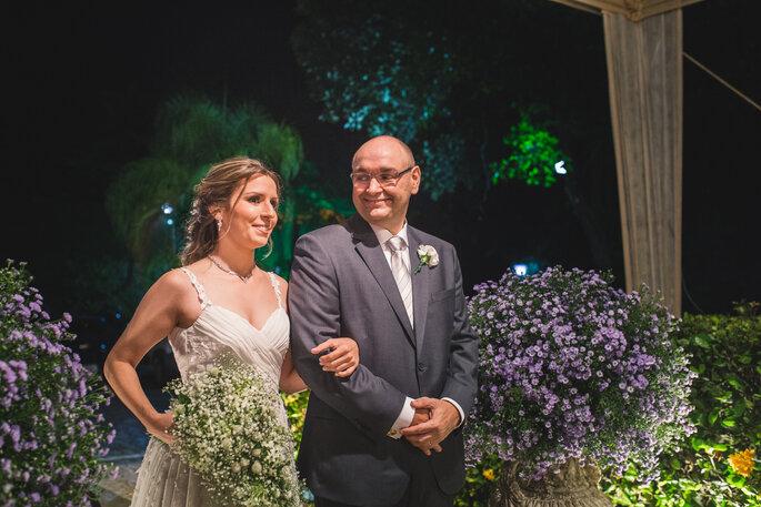 Foto noiva e pai
