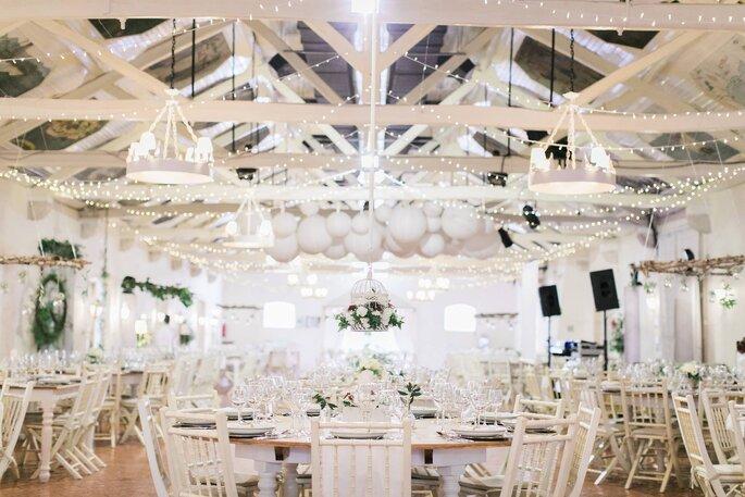 sala casamento rústica madeira tons branco