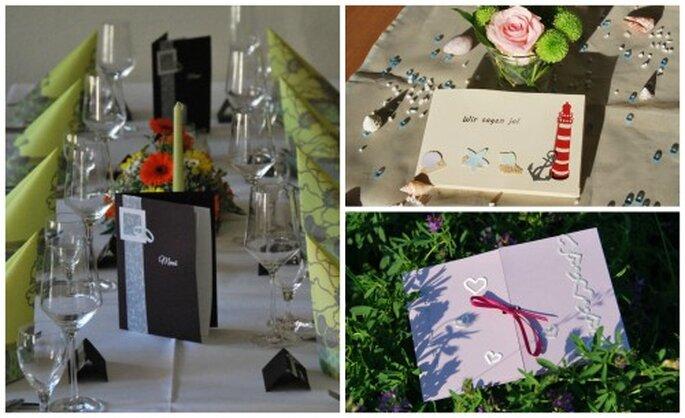 Sie entscheiden, welches Design und welche Schrift zu Ihrer Hochzeit passt. Fotos: Cardlove.de