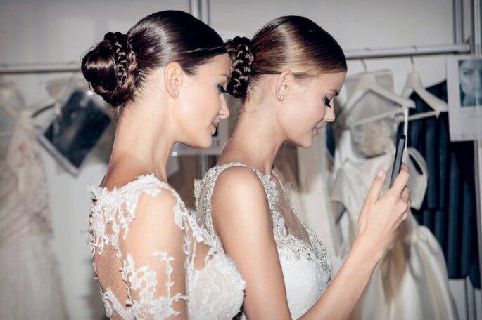 Delineado en color negro en tu maquillaje de novia - Foto Pronovias