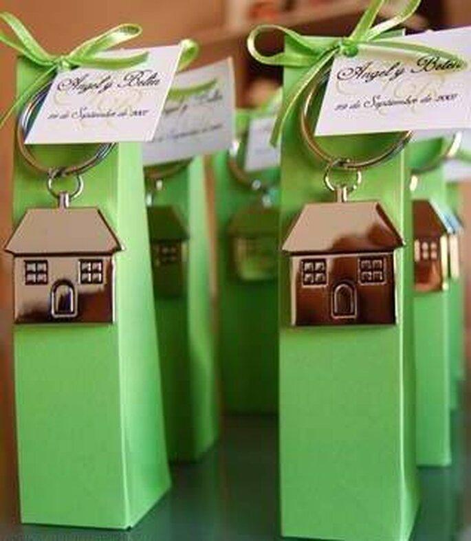 detalles de boda en tonos verdes
