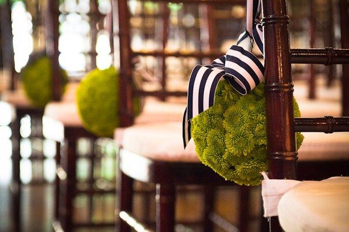 Una decoración con rayas en tu boda - Foto Leo DJ Photography