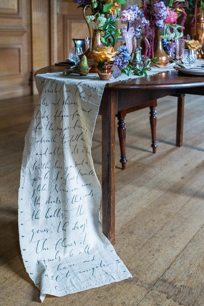 Caminos de mesa para la decoración de boda - Ann Kathrin Koch