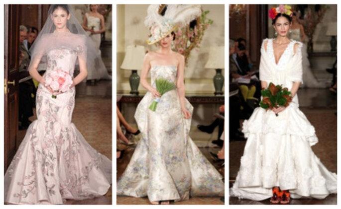 La última colección de novias de Carolina Herrera sobre la pasarela