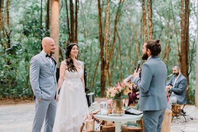 Cerimônia privada dos noivos