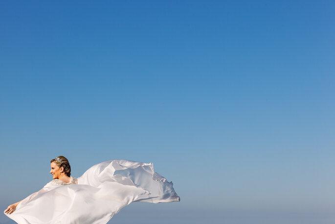 Ensaio de casamento ao ar livre