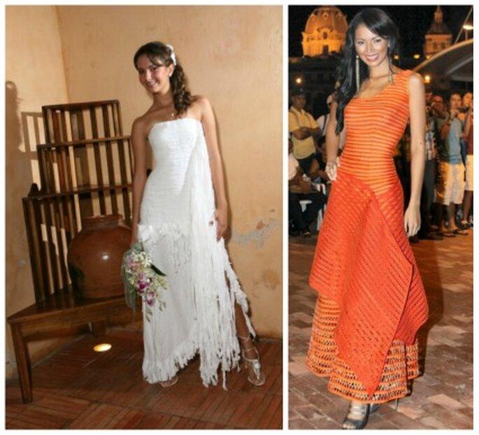 Vestido de novia y vestido de fiesta. Foto: María del Pilar Agámez