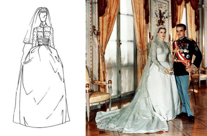 Infografía Zalando / Grace Kelly y Rainiero de Mónaco. Imagen Gtres Online.