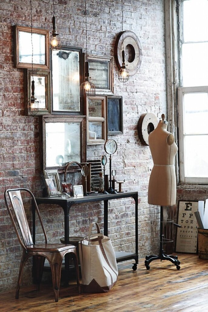 decoración estilo industrial chic - Anthropologie